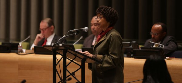 Leitner law center news, Leitner Center Distinguished Scholar-in-Residence, Gay McDougall, Gives Keynote Address at UN�s Commemoration of the International Day for the Elimination of Racial Discrimination